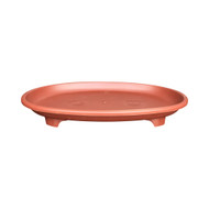 "9"" Oval Humidity Tray and River Sand (Red)"