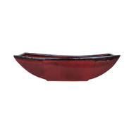 """16"""" Brick Red Lucky Bamboo Boat"""