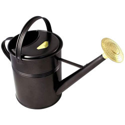 Bonsai Tree Watering Can - Haws | Traditional Metal 2.3 Gallons (Black) Bonsaioutlet