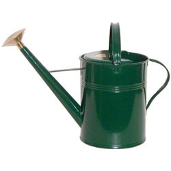 Bonsai Tree Watering Can - Haws | Traditional Metal 2.3 Gallons (Green)