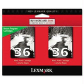 Lexmark Black Ink Cartridge, 350 yield, fits multiple models - 18C2236
