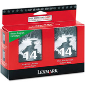 Lexmark Black Ink Cartridge, 175 yield, fits multiple models - 18C2228