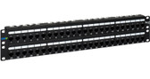 ICC PATCH PANEL, CAT 6A, 48-PORT, 2 RMS ICMPP0486B