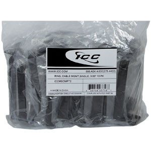 ICC 10 PK of 3.00 RING, CABLE MGMT ICCMSCMPT2