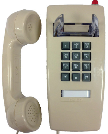 Cortelco 255444V0E27MD Wall Phone w/MSG Light ITT-2554-VOE-27MD-ASH