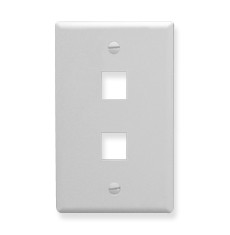 ICC FACEPLATE, OVERSIZED, 2-PORT, WHITE IC107LF2WH