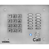 Viking Electronics VOIP STAINLESS STEEL ENTRY PHONE K-1700-IP-EWP