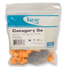 IC107E5COR - 25PK Cat5 Jack - Orange