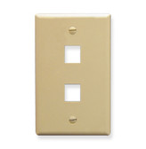 IC107F02IV - 2Port Face Ivory