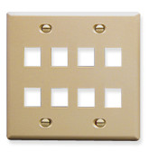 IC107FD8IV - 8 Port Face Ivory, 2-Gang
