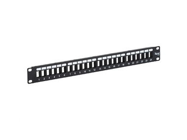 PATCH PANEL, BLANK, HD, 24-PORT, 1 RMS