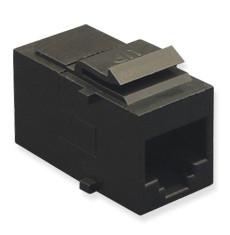 MODULE, COUPLER, CAT 5e, BLACK