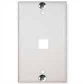 WALL PLATE, PHONE, FLUSH, 1-PORT, WHITE