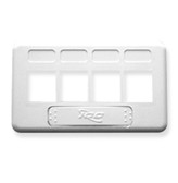 FACEPLATE, FURNITURE, TIA, 4-PORT, WHITE