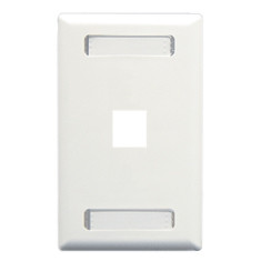 FACEPLATE, ID, 1-GANG, 1-PORT, WHITE