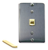 Wall Plate IDC 6P6C STAINLESS STEEL