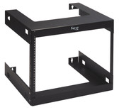 RACK, WALL MOUNT, 18in DEEP, 8 RMS