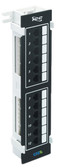 PATCH PANEL, VERTICAL, CAT 6, 12-PORT
