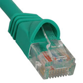 PATCH CORD, CAT 5e, MOLDED BOOT, 1' GN