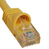 PATCH CORD, CAT 5e, MOLDED BOOT, 14' YL