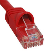 PATCH CORD, CAT 6, MOLDED BOOT, 7'  RD