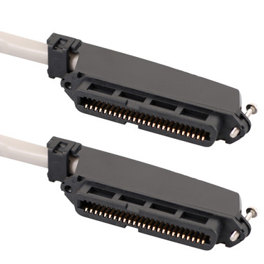 25-PAIR CABLE ASSEMBLY, F-F, 90°, 15'