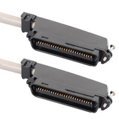 25-PAIR CABLE ASSEMBLY, M-M, 90°, 5'