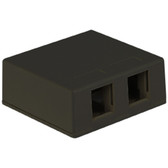 IC107SB2BK SURFACE BOX 2PT BLACK