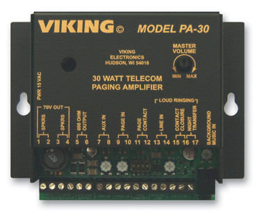 Viking 30 Watt Telecom Pagin Amp