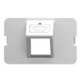 ICC BEZEL, ELITE, ANGLED, 1-PORT, WHITE IC108BA1WH