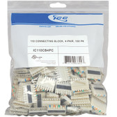 ICC 110 CONNECTING BLOCK, 4-PAIR, 100 PK IC110CB4PC