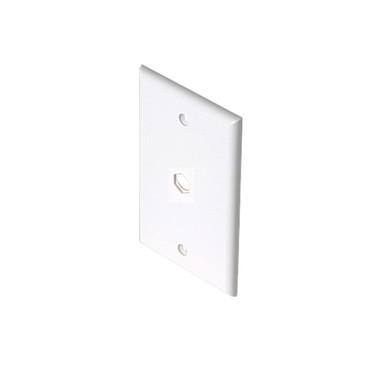 Steren TV White 1-Hole Wall Plate 200-254WH