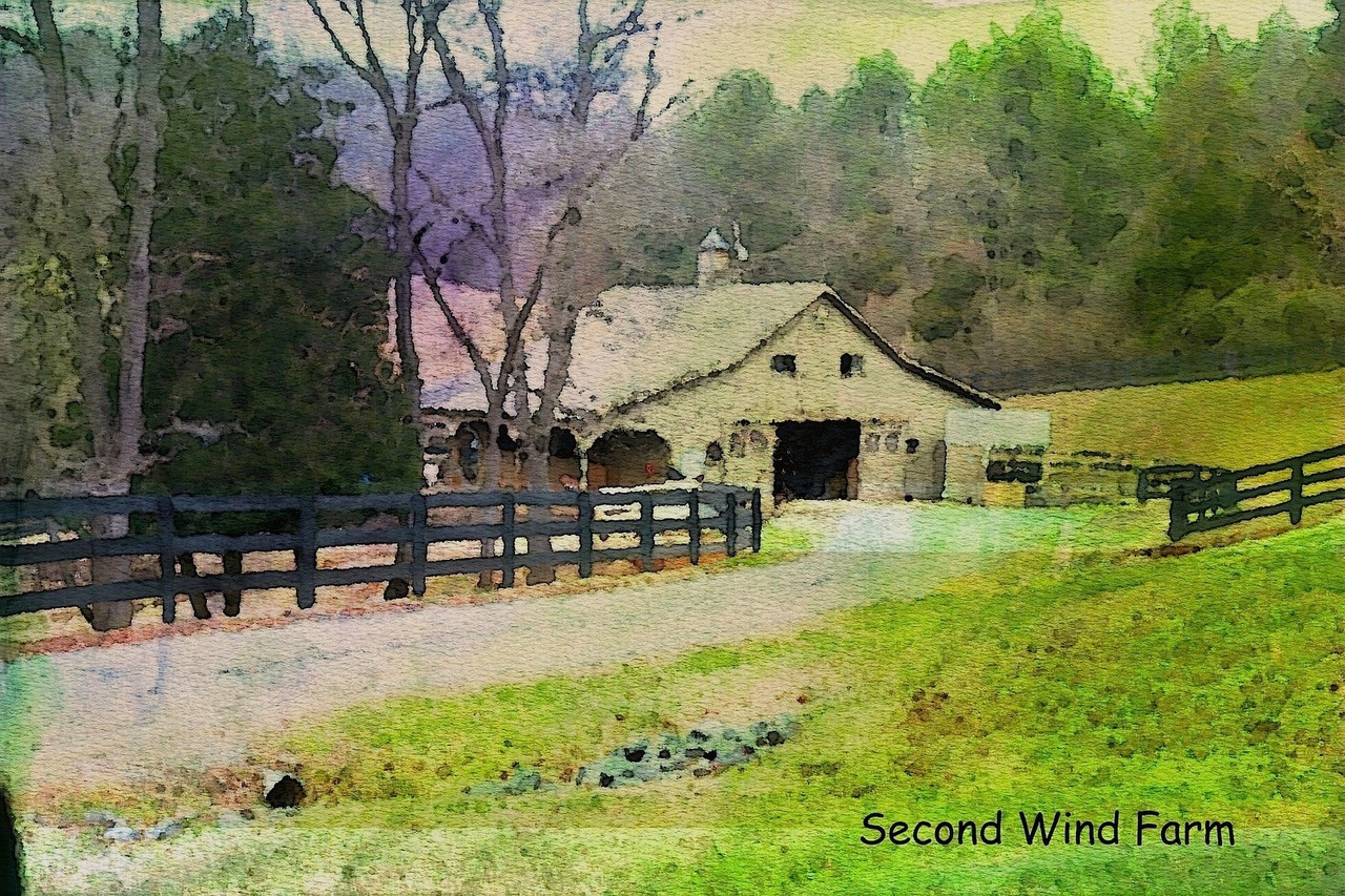 Second Wind Farm, watercolor by farm owner.