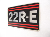 22RE Emblem Toyota O.E.M. engine badge for fuel injected 22RE Toyota engines