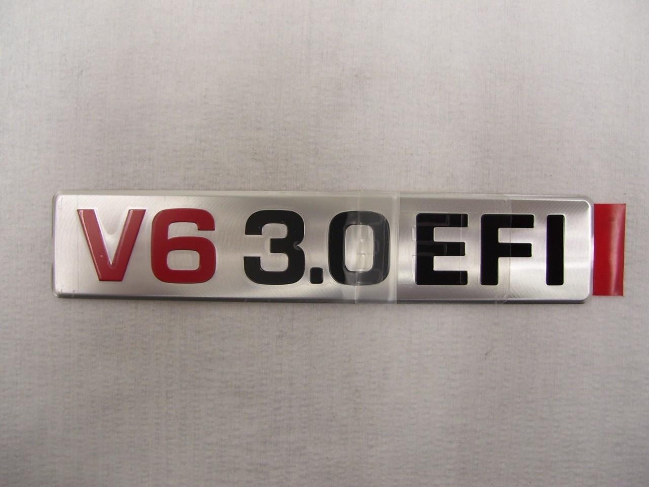 Toyota OEM Engine Badge 3VZ V6 EFI Engines