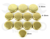 Freeze Plug Set- Toyota 4Runner, T100 and Tacoma 2.7L 3RZ, 2TR (95-15) Brass  FPS-939