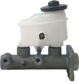 "Brake - Brake Master Cylinder - New w/o ABS Brakes  # of Line Ports : 2 Brake Master Cylinder Bore Size : 1"" Brake Master Cylinder Line Thread Size : 2 x M10-1.0 Finish : Rust-Preventative Finish"