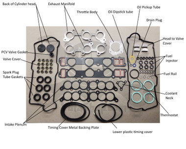 Gasket Set - Toyota 4Runner, T100, Tacoma, Tundra V6 3.4L, 5VZ (1995-2004) Long Block Install Gasket Set  Kit-2023