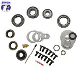 Yukon Master Overhaul kits give you all the high quality parts you need to start & finish every differential job. Yukon offers more tailor-made kits than any other manufacturer in the industry to meet your specific installation needs.   This kit uses premium bearings and races along with high quality seals and small parts. Included in this kit are carrier bearings and races, pinion bearings and races, pinion seal, complete shim kit, ring gear bolts, pinion nut, crush sleeve (if applicable),thread locking compound, and marking compound with brush. Yukon's Master Overhaul kits are the most comprehensive and complete kits on the market. They do extensive research to ensure that every kit is specially tailored to your application. Includes side seals, but no side shims.
