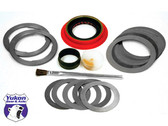 Yukon Minimum installation kits are a low cost solution for gear changes in newer vehicles where the bearings can be reused.    This kit uses all high quality components to ensure a smooth set up. kit includes a pinion seal, crush sleeve (if applicable), complete shim kit, marking compound and brush. No side shims.