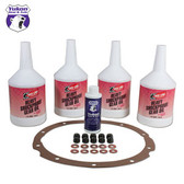 Redline Synthetic Oil with additive, gasket and nuts for '55-'64 Chevy Passenger.