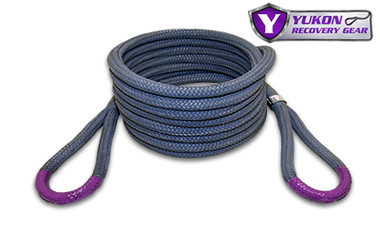 """Yukon kinetic recovery rope, 7/8"""" YRGRR-01  *7/8"""" diameter  *30 feet long  *Kinetic design increase pulling capacity by up to 30%  *Rated to 28,000 lbs."""