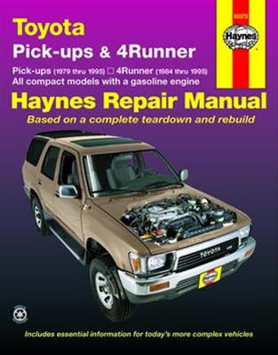 haynes toyota pickup trucks 1979 1995 4runner 1984 1995 repair manual rh yotashop com 1996 4Runner 1995 toyota 4runner repair manual free download