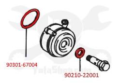 Toyota 4Runner, T100, Tacoma, Tundra 3.4L 5VZ-FE (1995-2004) OEM Oil Cooler Gasket Kit  KIT-1036B