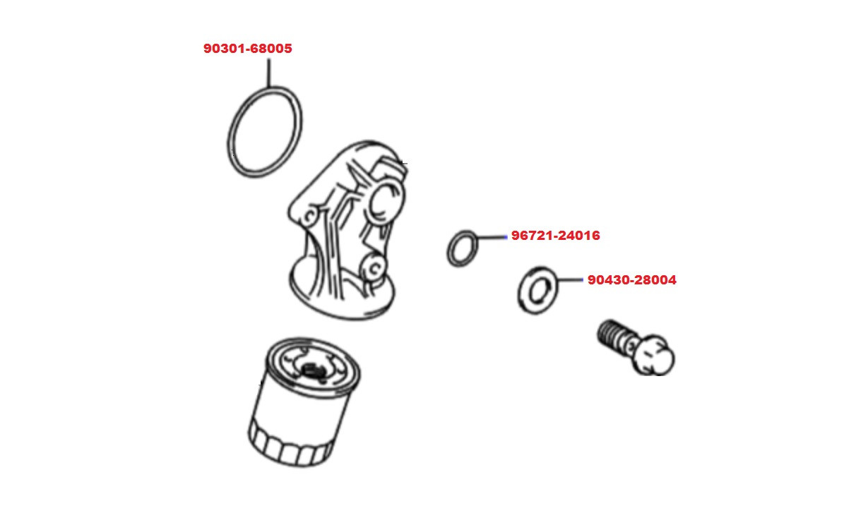 Toyota Tacoma 2wd 2.4L/2RZ (95-04) Oil Filter Housing Seal