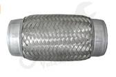 "Stainless Steel Exhaust Flex Coupler 2"" ID x 6"" Long - FLX2006B"