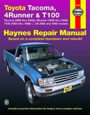 Haynes Repair manual for Toyota 4Runner ('96-'02), Tacoma ('95-'04), and T100 ('93-'98) (All 2WD and 4WD Models)