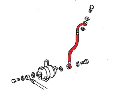 Toyota 4runner & Tacoma 2.7L 3RZ-FE Fuel Line from fuel