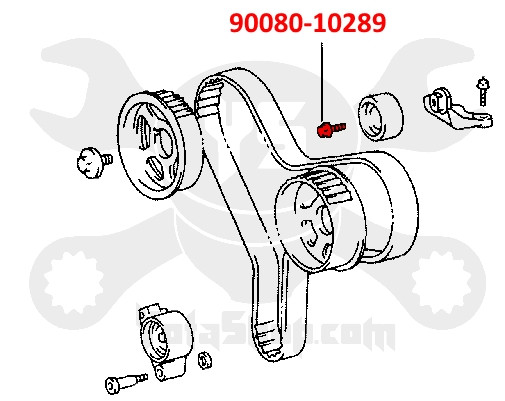 Toyota Engine Timing Belt Idler Pulley Bolt 90080-10289