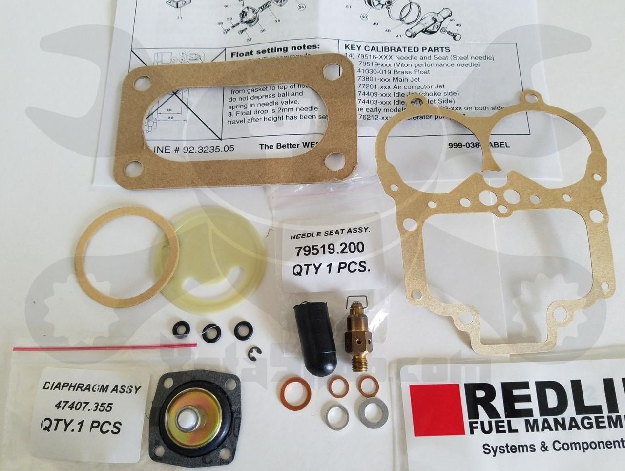 Weber 38 DGAS Carburetor Rebuild Kit 92 3235 05